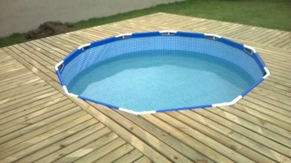 Creative Ideas - DIY Above Ground Swimming Pool With Pallet Deck 3