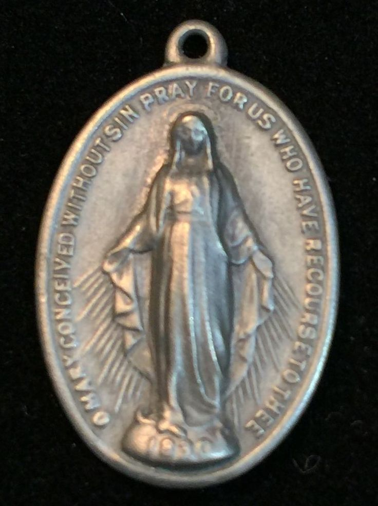 Vintage Mary Conceived Without Sin Pray for US Who Have Recourse to Thee Medal | eBay