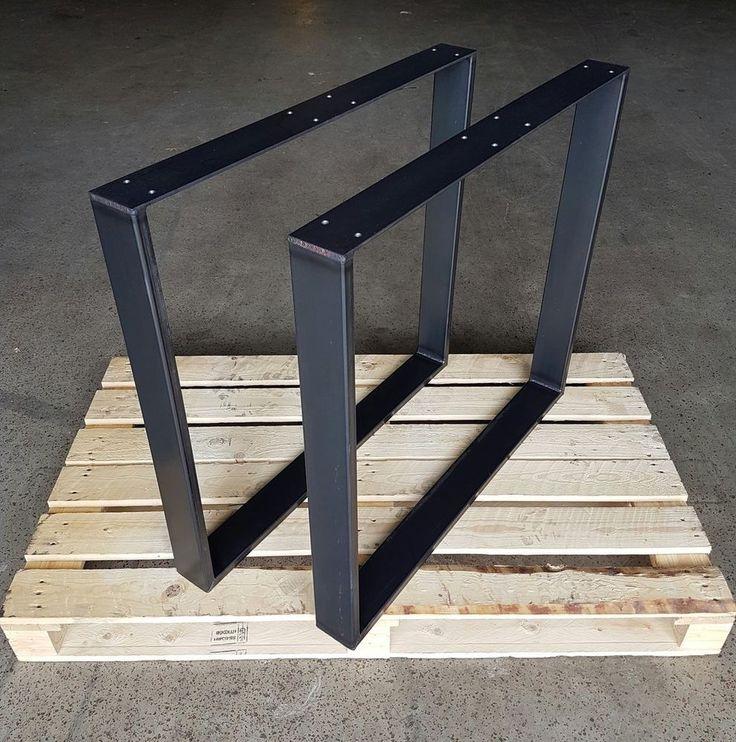 Tischkufen Industrie Design 1 Paar 73-80 cm Rohstahl 80-20  in Möbel & Wohnen, Möbel, Zubehör | eBay!