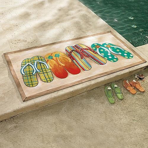 29 best images about flip flops on pinterest tin art for Garden pool mats