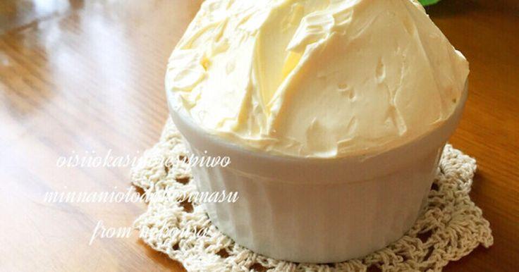 滑らかなバタークリームです  . パンやマカロン、ダックワーズなどに良く合います  ! ケーキやデコレーションにも  ♩