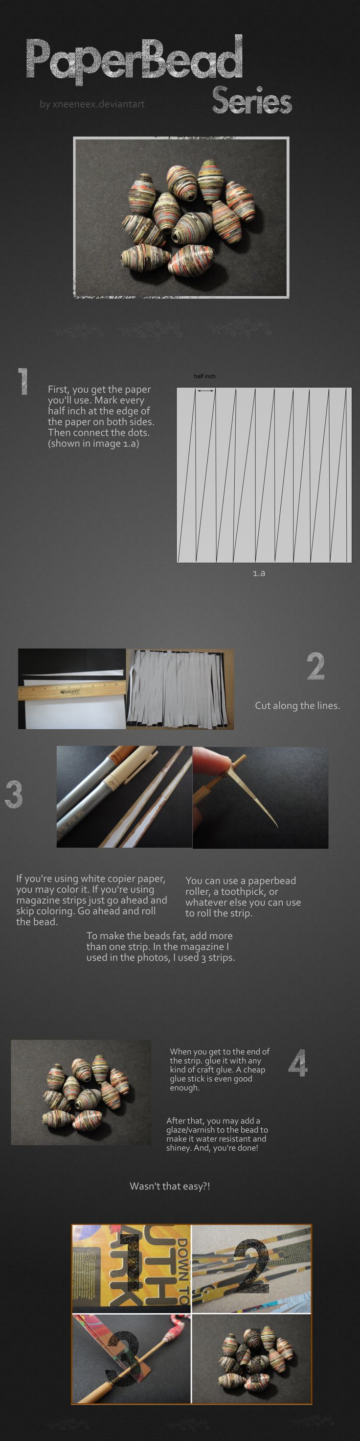 Paper Bead Series – Half Inch Fat Beads von xneeneex