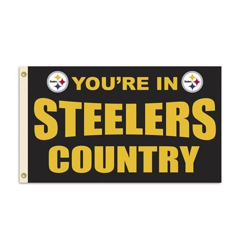 Pittsburgh Steelers NFL You're in Steelers Country 3'x5' Banner Flag