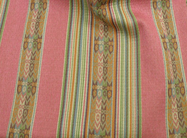 Clarke & Clarke Totem Navajo Southwestern Upholstery Weight Stripe Fabric-3+YDS | eBay