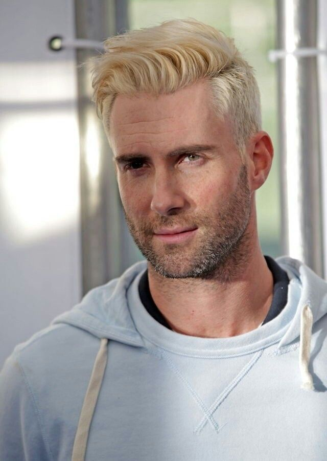 Adam Levine   No more    no blonde hair