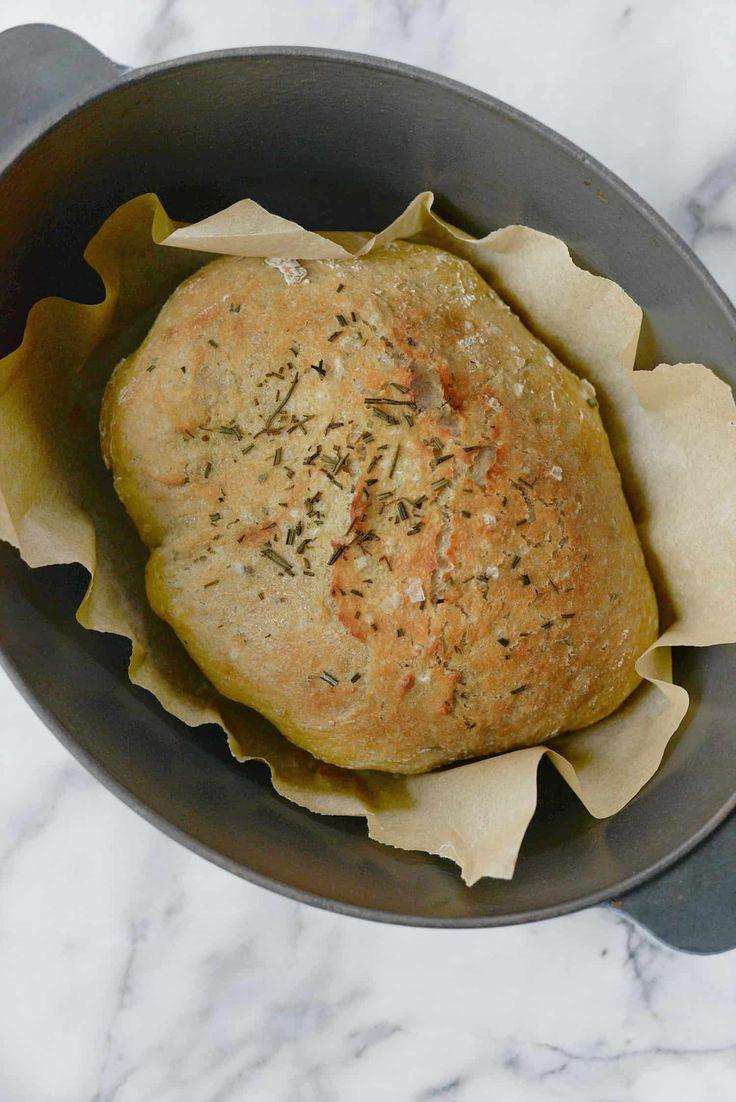 Instant Pot No Knead Whole Wheat Rosemary Bread! Want crusty, bakery bread in ju…