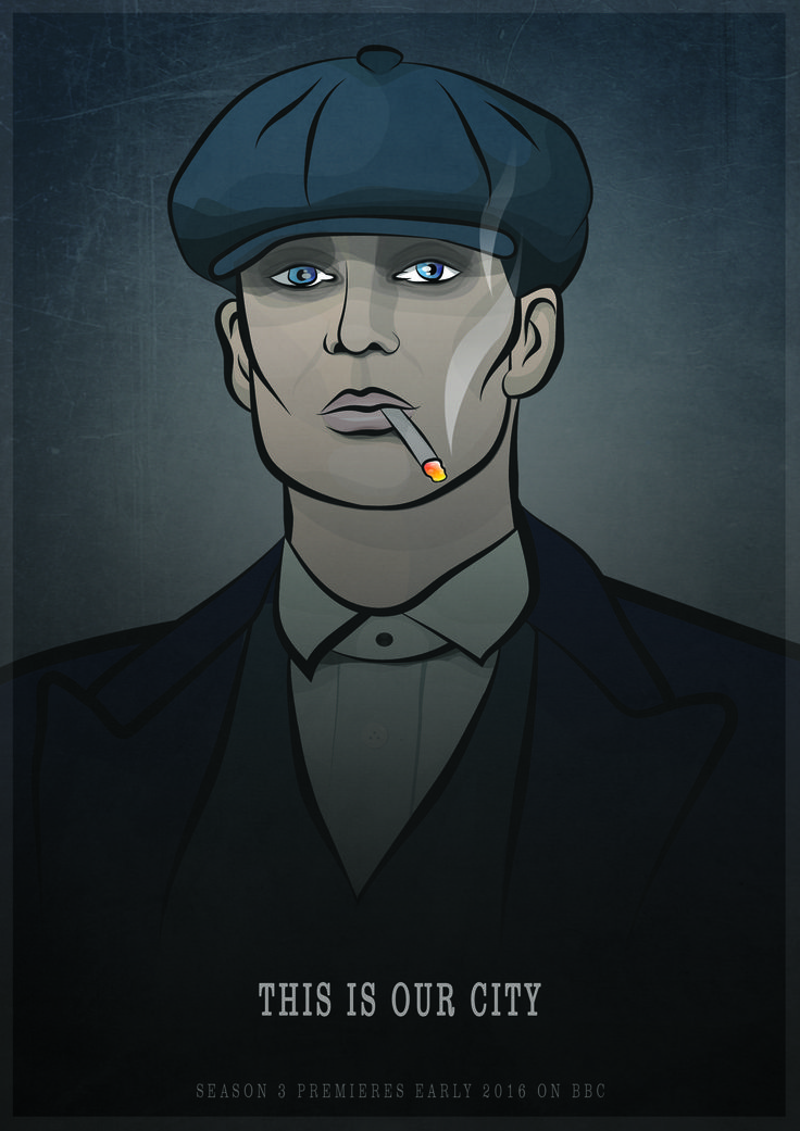Peaky Blinders Illustration i Illustrator. (2016)