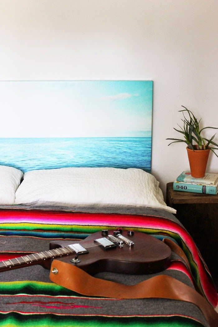 Photo headboard DIY tutorial maybe have the photo be of ferns of palm fronds or tropical forest