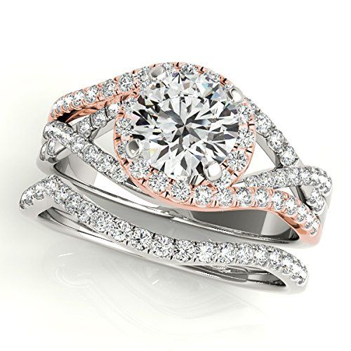 Art Deco Unique Diamond Wedding Ring 14k Two Tone Gold: 17 Best Ideas About Two Tone Engagement Rings On Pinterest