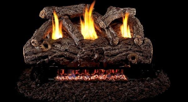 Real Fyre Golden Oak Designer Ventless Gas Logs Set