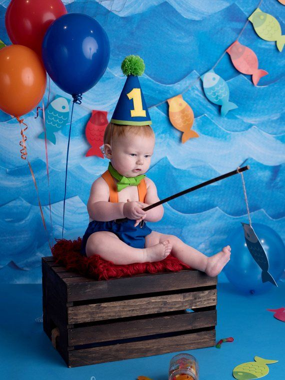 Sensational Boy Cake Smash Outfit O Fish Ally One The Big One Boy 1St Personalised Birthday Cards Veneteletsinfo