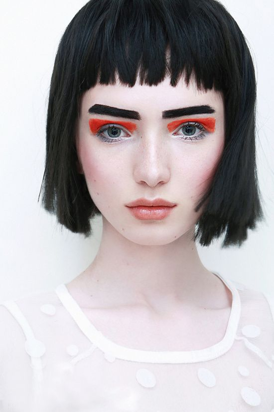 k-ayo: Orange eyes  model :Natalia(弥亚文化) | POWDER DOOM - a makeup tumblr
