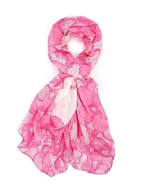 Laceier branded lace border scarf