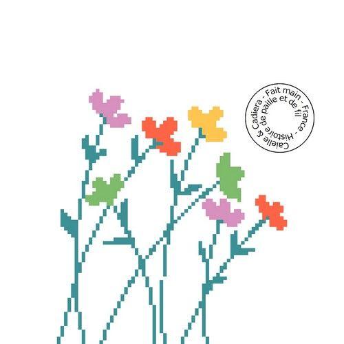 Grille gratuite de point de croix - Fleurettes