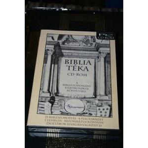 Biblia Teka Softwer / A BibliaTeka CD-ROM a bibliatudomany komplett konyvtara: 13 bibliaforditas, 4 bibliamagyarazat, 3 bibliai lexikon / MAGYAR BIBlIA HUNGARIAN BIBLE