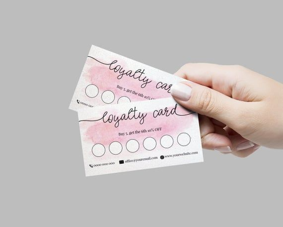 Hair Stylist Loyalty Card Personalized Loyalty Card Reward Etsy Salon Business Cards Beauty Business Cards Loyalty Card Design