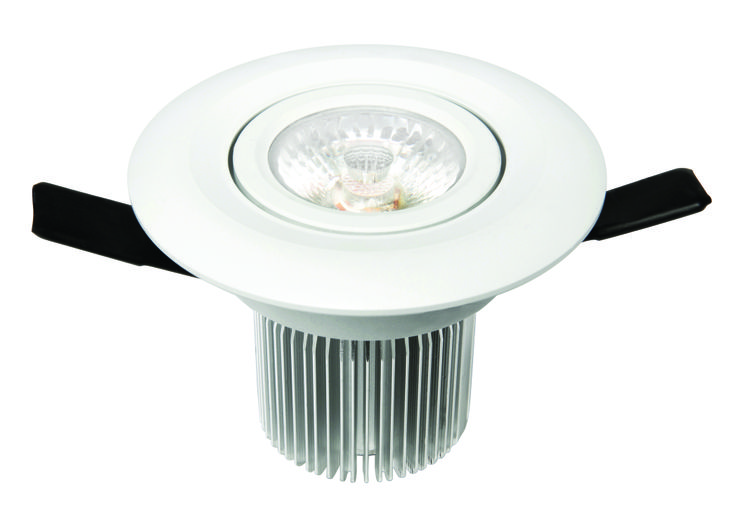 Luxor LED Round Gimbal Downlight 12w in White