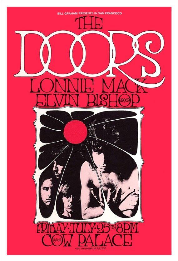 The Doors concert poster (etsy.com) #jimmorrison #thedoors #thedoorsconcertposter