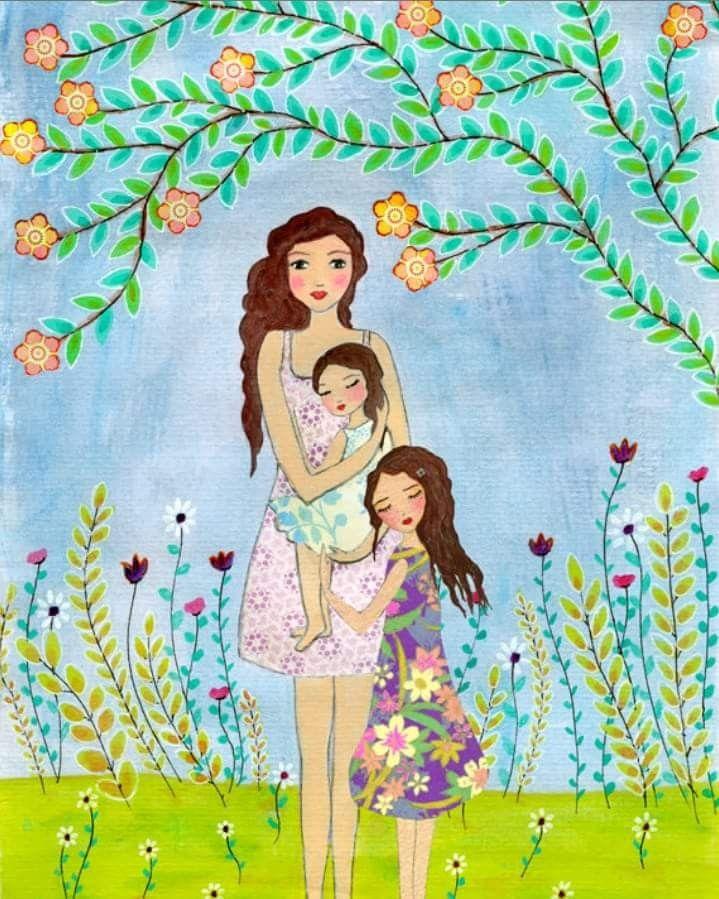 Имени, картинки дочка с мамой рисованные