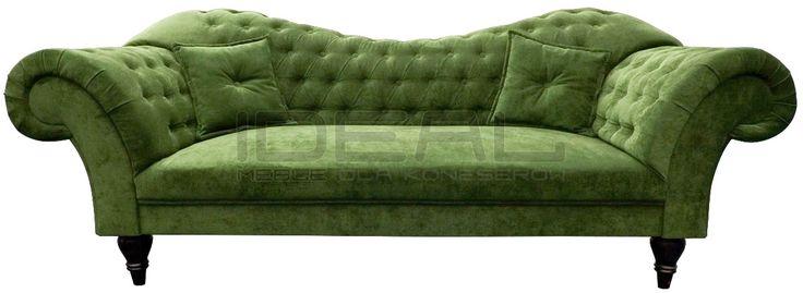 zielona sofa chesterfield Madam, green chesterfield, pluszowa sofa chesterfield, velvet chesterfield, styl angielski    sofa_chesterfield_madame_IMG_4792d.jpg (1200×439)