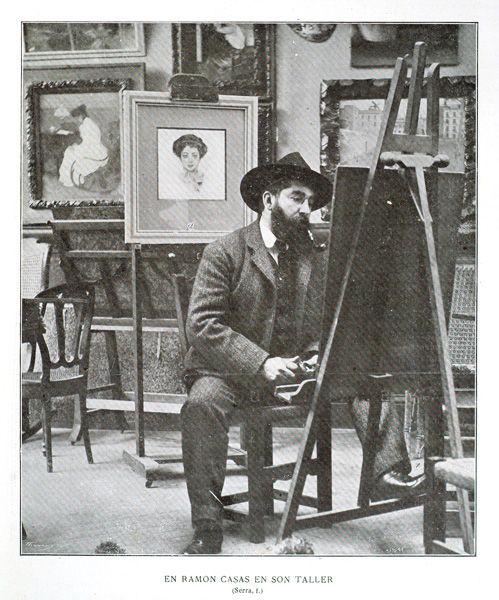 Ram n casas fame pinterest for Artiste peintre catalan