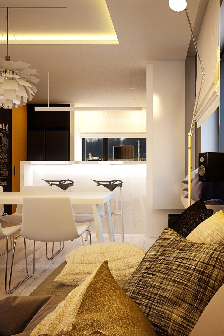 Living room design in Chorzow, POLAND - archi group. Pokój dzienny w Chorzowie.