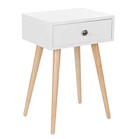 Frame your sleep space in charming, mid-century style wih the Jack Bedside Table from Zanui, its contrast white-and-natural palate refreshes any interior.