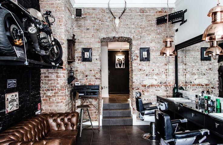 AW Barberian Academy & Barber Shop w Warszawie. Projekt: InMAGINE Projektowanie Wnętrz Marta Kruczyk  Zdjęcia: Studio Malina