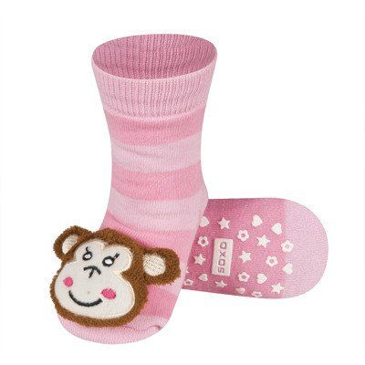 BABY RATTLE SOCKS 'SOXO' LARGE - MONKEY WITH ABS    #MamaFashionMe - Aussie Online Store with Beautiful Accessories for Girls + Some for Boys