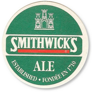 st. patrick's day, st. patricks day, st. pattys day, st, patty's day, irish, irish beer, beer, smithwick's, smithwick's, beer coaster, coaster, vintage coaster,