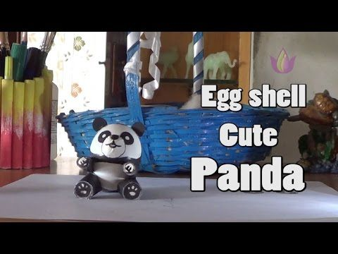 Artos Easter Eggshell craft DIY Cute PANDA