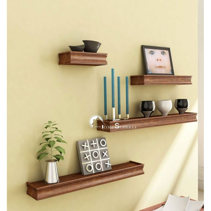 Onlineshoppee Sobe Wall Shelf 4 Pcs Walnut   Add Oodles Of Style To Your  Home With An Exciting Range Of Designer Furniture, Furnishings, Decor Items  And ...