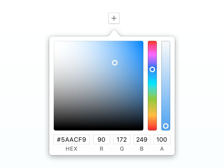 Mac OS styled color picker by Davey Heuser #Design Popular #Dribbble #shots