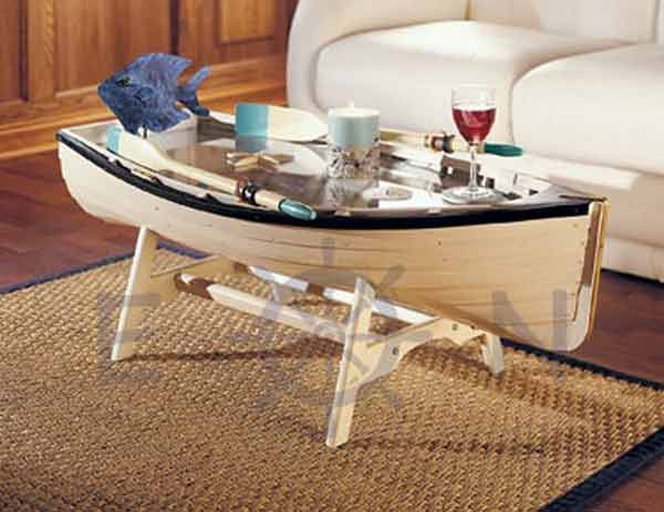 Re-use old boats in interior design| The best coffee tables home design ideas! See more inspiring images on our boards at: http://www.pinterest.com/homedsgnideas/home-design-ideas-coffee-tables/