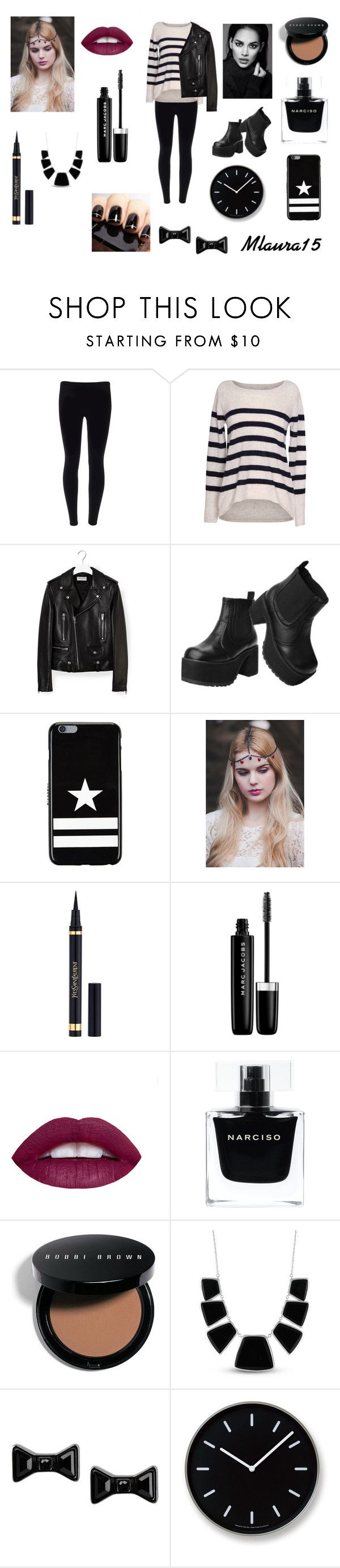 """""""style"""" by laurenciusz ❤ liked on Polyvore featuring Velvet by Graham & Spencer, Yves Saint Laurent, T.U.K., Givenchy, Marc Jacobs, Narciso Rodriguez, Bobbi Brown Cosmetics, Karen Kane, Marc by Marc Jacobs and Lemnos"""