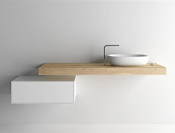 modern minimal bathroom sink and storage