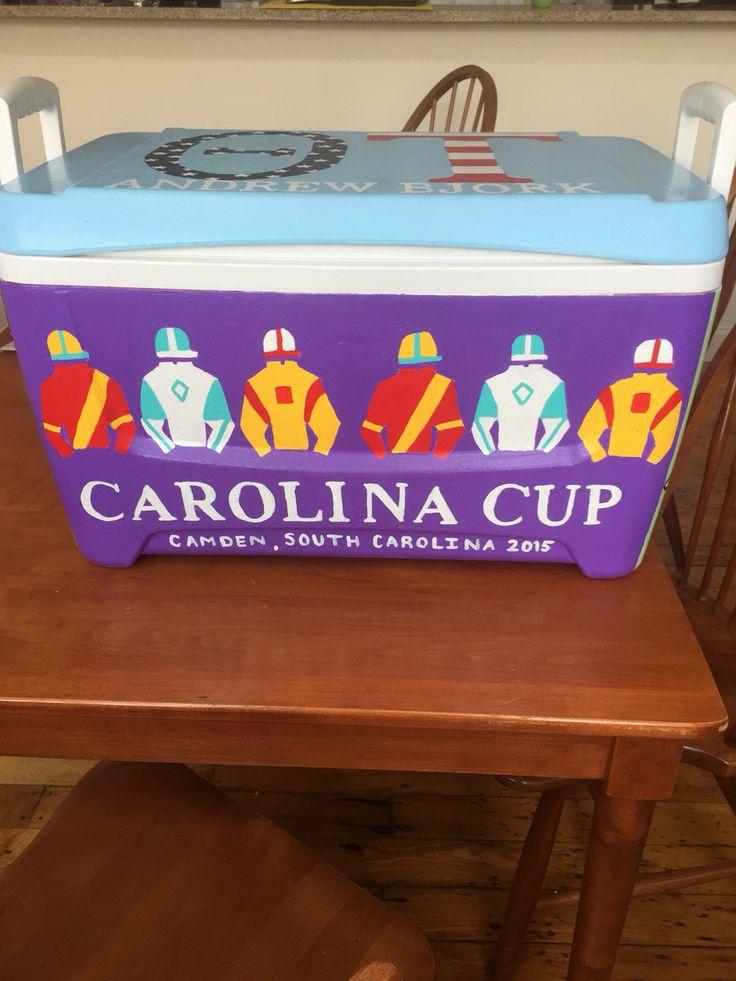Carolina cup fraternity cooler. Camden SC university of South Carolina. (Emily Engoron)