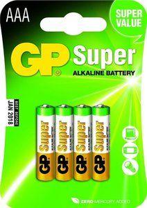 4 stuks GP Super Alkaline AAA Micro penlites in blisterverpakking. Prijs vanaf € 2,99!