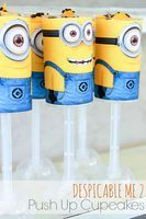 Despicable Me 2 Party: Push Up Cupcakes {free printable} - Create-Celebrate-Explore :)