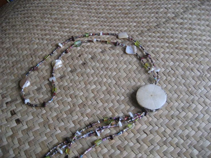 """Long Necklaces – 'Sand Dollar"""" Shell Necklace – a unique product by Shellcentric on DaWanda"""