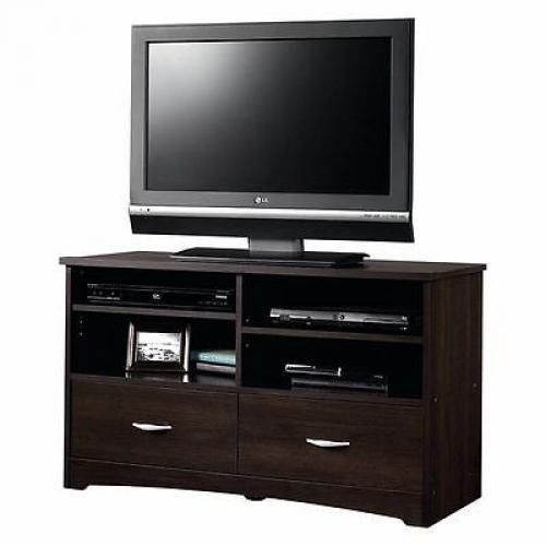 Modern TV Stand Media Entertainment Center Home Theater Cabinet Wood Furniture #Sauder