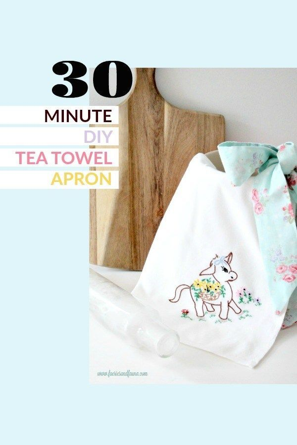 How to Sew a Simple Tea Towel Apron with a Pretty Bow | Needlecraft ...