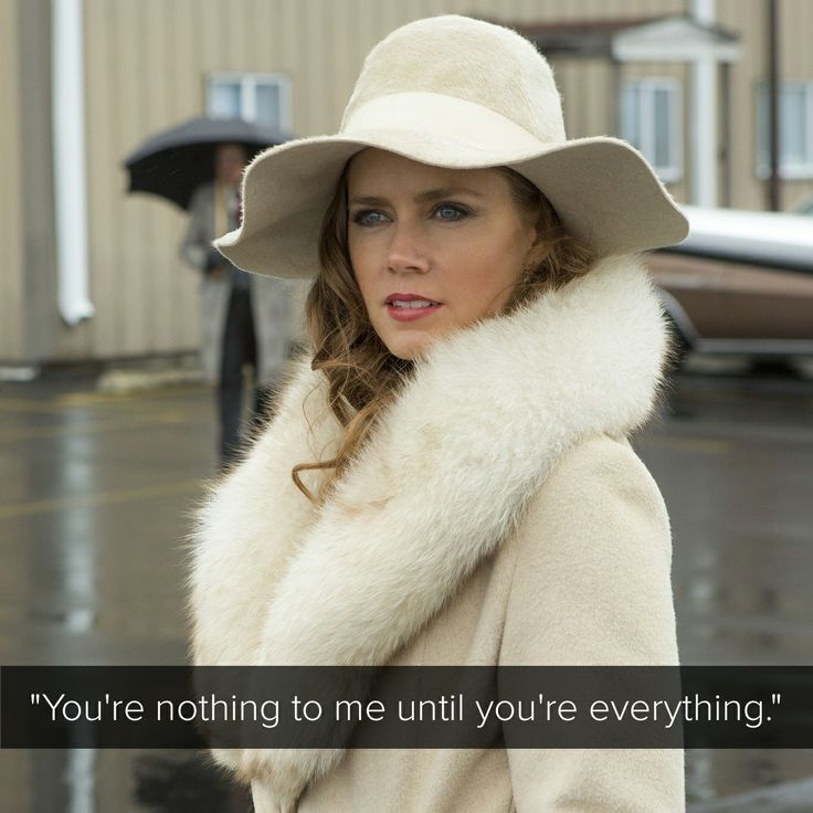 Sydney Prosser, American Hustle #Quotes she could not have said it better!!!