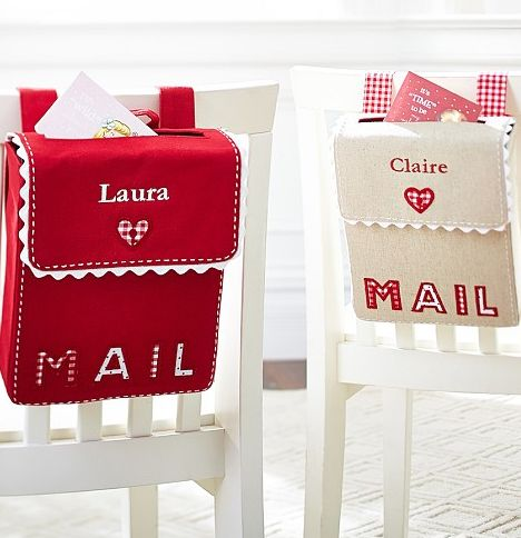 Personalized Valentine's Day mailboxes. love, love, love!