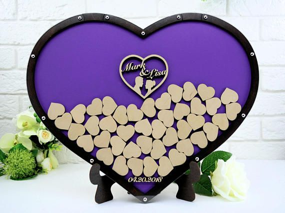 Guest Book Alternative Wedding Guest Book Heart Guest Book