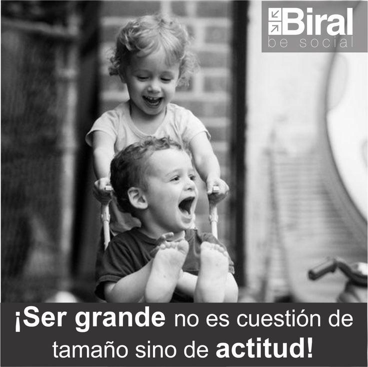 ¡Ser grande no es cuestión de tamaño sino de actitud! #biral #frases #frasesbiral