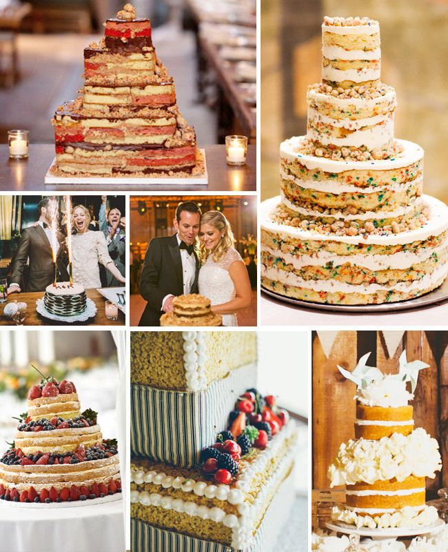 Sweet And Simple Naked Wedding Cakes: 7 Naked Wedding Cakes