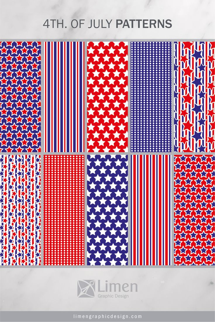 4th. of July Patterns by Limen Graphic Design
