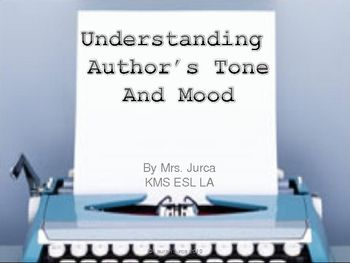 For all my teacher friends! Powerpoint presentation on Author's Tone and Mood in Literature. I also pinned a great anchor chart, but the PowerPoint is good for an introductory lesson, or re-teaching for kids who need more time with the concepts. This has been a challenge, even for my on-level kids, this year.