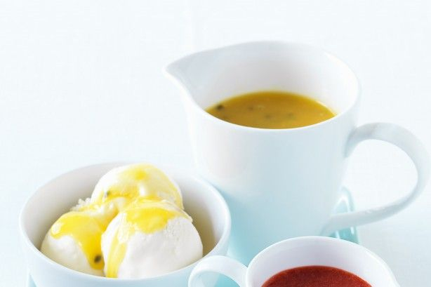 Serve up homemade sauces with ice-cream for the adults and kids to enjoy!